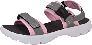 Fsports Womens Grey Pink Colour Doxy Series Synthetic Casual Sandal