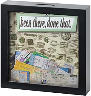 Been There Done That 7 x 7 Black Wood Framed Shadow Box Ticket Stub Holder