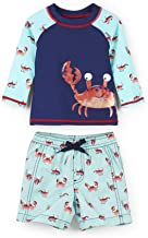 Hatley Boys' Baby Rash Guard Swimsuit Sets