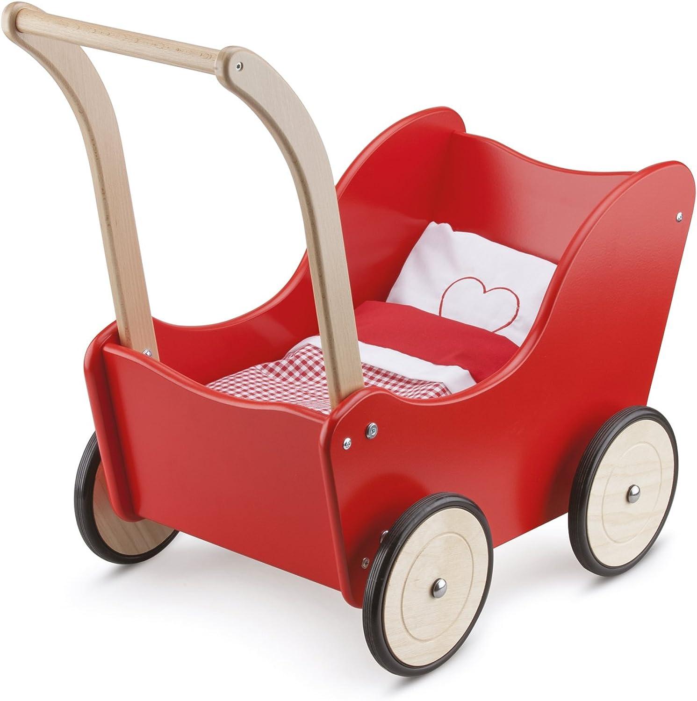 tienda Juguetes-10750 New Classic Juguetes-10750-Cesta para muñecas, muñecas, muñecas, Color Rojo, Madera (10750  ventas en linea