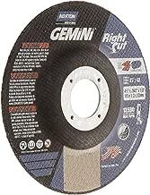 Norton Gemini Right Cut Right Angle Grinder Reinforced Abrasive Flat Cut-off Wheel, Type 27, Aluminum Oxide, 7/8