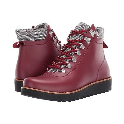 Bernardo Winnie Hiker Rain Boot (Bordeaux Rubber/Plaid) Women