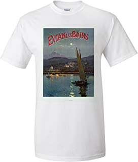 e09878e68058e Evian les Bainse Vintage Poster (artist  Tauzin) France (Premium T-Shirt