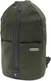 DRAKENSBERG Rucksack Seesack, handgepäck-tauglich, Lamond-Duffel-Backpack 20 L, Canvas und Echt-Leder, Dunkel-Grün, DR00401