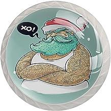 Lade handgrepen trekken ronde kristallen glazen kast knoppen keuken kast handvat,Kerstmis thema moderne kerstman