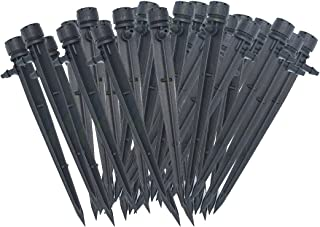 Forfuture-go 50Pcs Adjustable Flow Irrigation Drippers 360 Degree Emitter Drip System