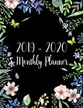 24 Months Jan 2019 to Dec 2020 For Academic Agenda Schedule Organizer Logbook and Journal Notebook Planners Monthly Calendar Planner 2019-2020 Monthly Planner: Two Year Colorful Watercolor Line Cover