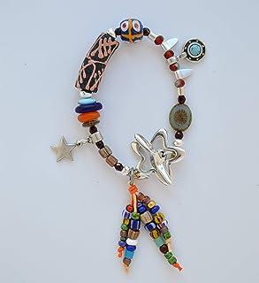 Bracciale boho perline colorate fatto a mano, regalo unici e originale