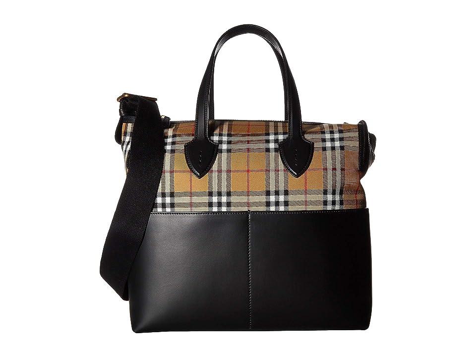 Burberry Kids Kingswood Diaper Bag (Black) Diaper Bags