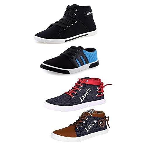 Tempo Men's Multicolor Combo Pack of 4 Synthetic Sneaker