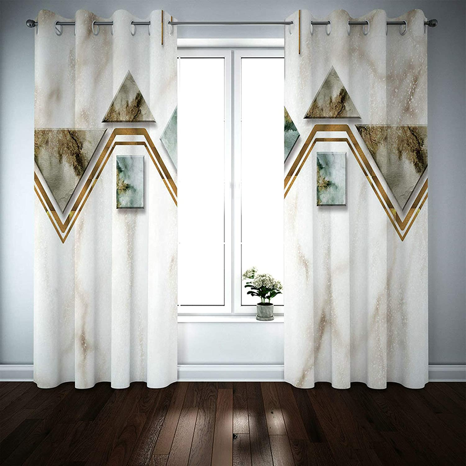 MoAndy Textured Blackout Curtains 2 Panels Livingr 45 x 52 Max 69% OFF Max 72% OFF Inch