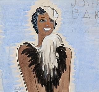 Josephine Baker Vintage Poster (artist: Deschler) c. 1935 (24x36 Fine Art Giclee Gallery Print, Home Wall Decor Artwork Poster)