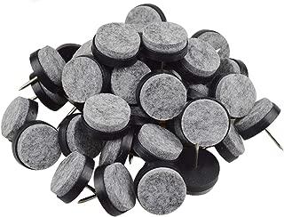 40pcs Round Heavy Duty Nail-on Anti-Sliding Felt Pad for Furniture Chair Table Leg Feet Floor Protectors (Black 20mm (40 pcs))