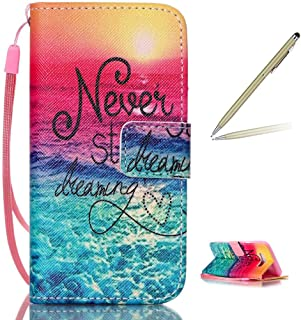 Trumpshop Smartphone Protective Case for Samsung Galaxy J7 (2016,J710) + Never Stop Dreaming + Premium PU Leather Flip Wallet Cover Bookstyle [Not compatible with J7 (J700)]