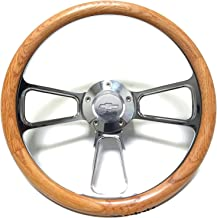 1970 1971 1973 Chevy C10 Pick-Up Truck Oak Steering Wheel + Polished Adapter Kit