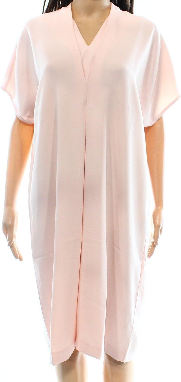 Alfani Women's Tunic VNeck DolmanSleeve Shift Dress Pink 12