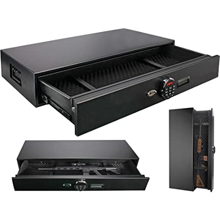 Under Bed Safe, Rapid Gun Storage Safe Drawer Safe for AR Rifle Ammo Pistol Accessories for Home and Vehicle
