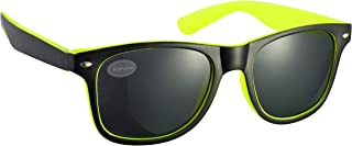 2-Tone Black and Bright Yellow Drifter Style Sunglasses UV400 Protection Unisex (Pack of 3) (SG-129)