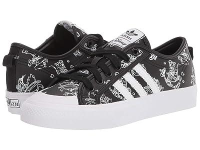 adidas Originals Kids Nizza J x (c)Disney Sport Goofy (Big Kid) (Core Black/Footwear White/Footwear White) Kids Shoes