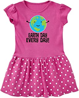 inktastic Earth Day Every Day Planet Toddler Dress