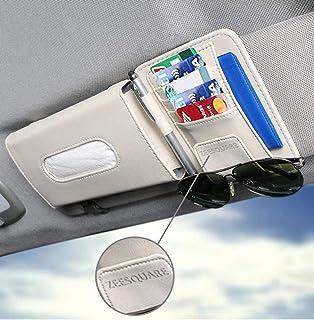 ZeeSquare Car Accessories Holder Portable Tissue Organizer Pen Storage Box Napkin Dispenser Bag Multi Use Beige Decoration...