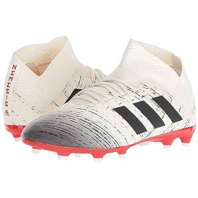 adidas Kids Nemeziz 18.3 FG Soccer (Little Kid/Big Kid) (Off-White/Black/Active Red) Kids Shoes