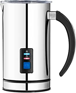 Chef`s Star Milk Frother - Automatic Foam Maker & Creamer For Hot Or Cold Milk Steamer - Electric Warmer & Heater, Best For Coffee, Cappuccino, Latte, Espresso (250ml 8.5 Fl Oz)