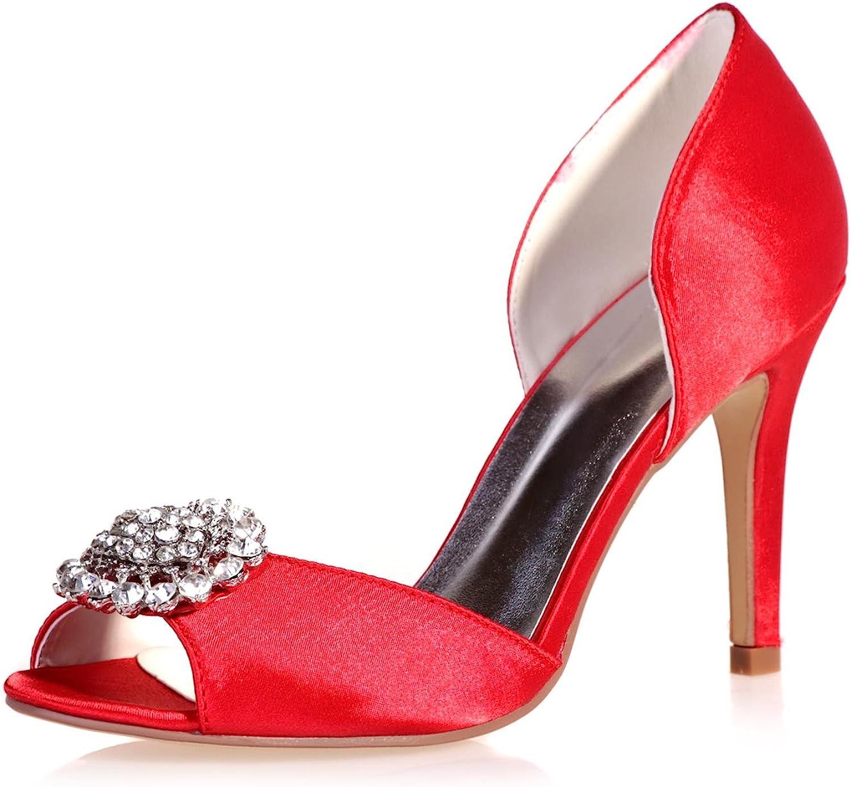L@YC Damen Hochzeit Hochzeit Schuhe Satin Strass Nacht Plattform Peep Toe Nacht  5623-15  beste Mode
