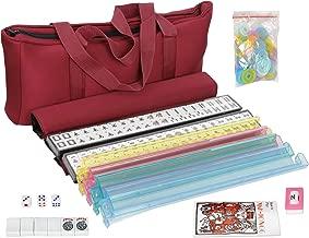 American Mah Jongg Mahjong 166 Tile Set with 4 All-in-One Rack/Pushers,Soft Bag (Stylish Full Size Complete Mah Jongg Set)