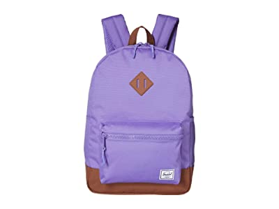 Herschel Supply Co. Kids Heritage Youth XL Backpack (Youth) (Aster Purple/Saddle Brown) Backpack Bags