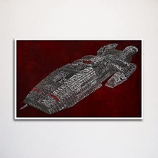 Battlestar Galactica word art print 11x17