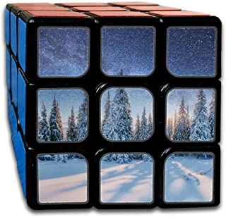 Custom 3x3 3x3 Cube Puzzle Best Brain Training Toys 3x3x3 Dairy Star Trek Iover Pine Forest Magic Cube Game Party Game for Boys Girls Kids Toddlers-55mm