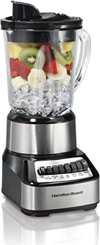 lowest Hamilton lowest Beach Wave Crusher Blender with 40 Oz Glass Jar and 14 Functions for Puree, Ice Crush, Shakes and new arrival Smoothies, Stainless Steel (54221) online sale