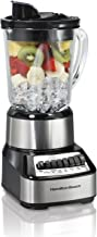 Hamilton Beach Wave Crusher Blender with 40oz Glass Jar and 14 Functions for Puree, Ice Crush, Shakes and Smoothies, Stainless Steel (54221)