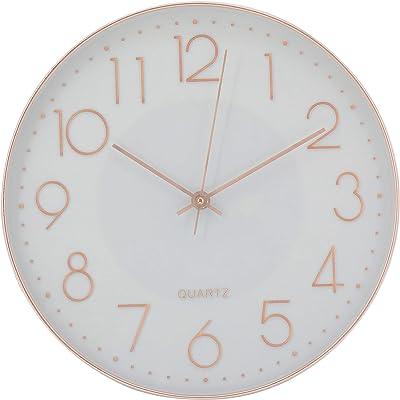 JVD ha5.3 Horloge murale quartz analogique vert Silencieux Sans présentent environ Rétro
