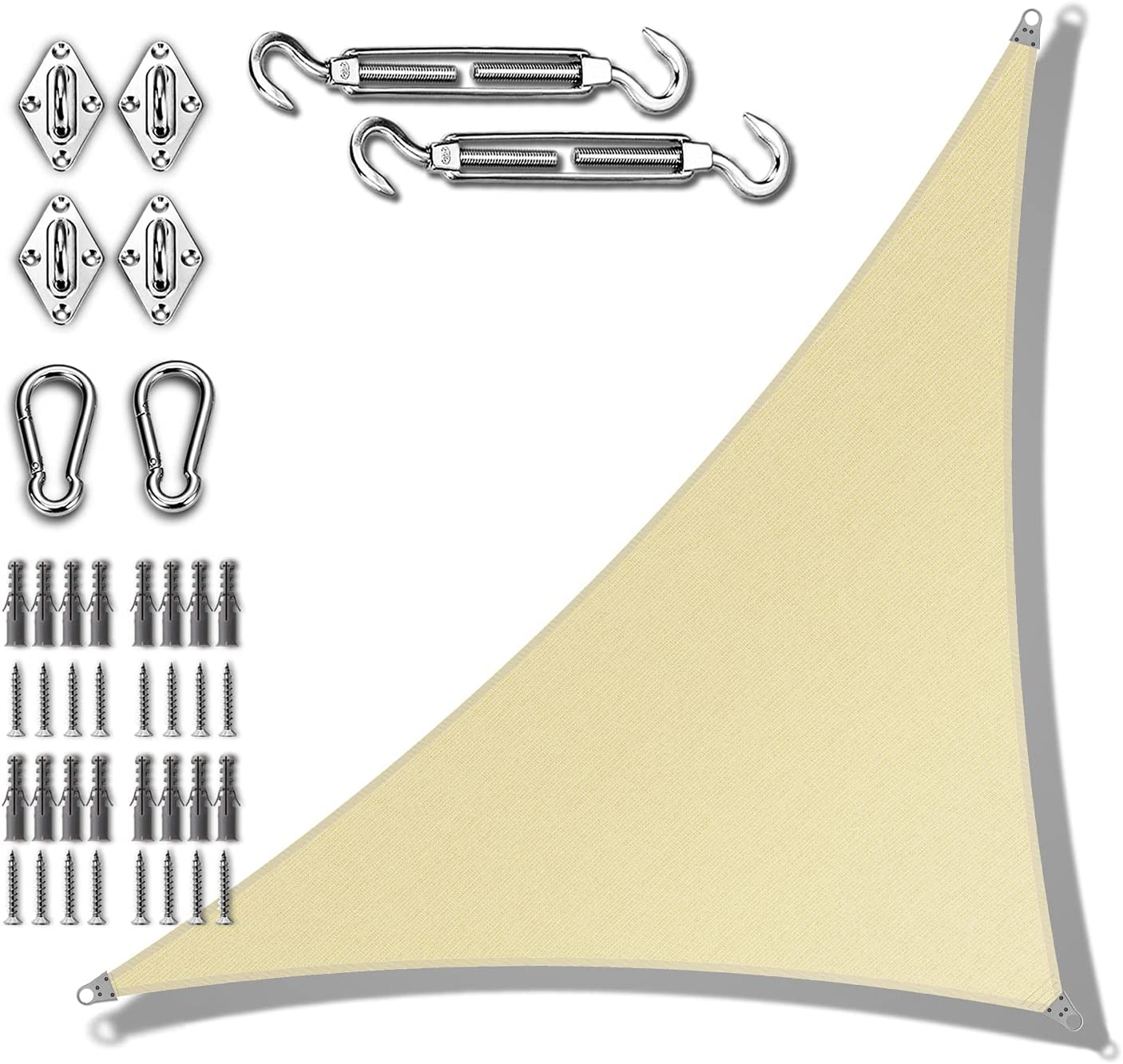 Amgo 12' x 17' Beige Right with Popular shop is the lowest Max 70% OFF price challenge Tr Sun Shade Triangle Sail