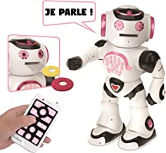LEXiBOOK - Powergirl - Interactive Robot for Playing and Learning - Toy for Boys and Girls - Dance, Playing Music, Educational Quiz, Story Tale, Disc Launch, ROB50GFR
