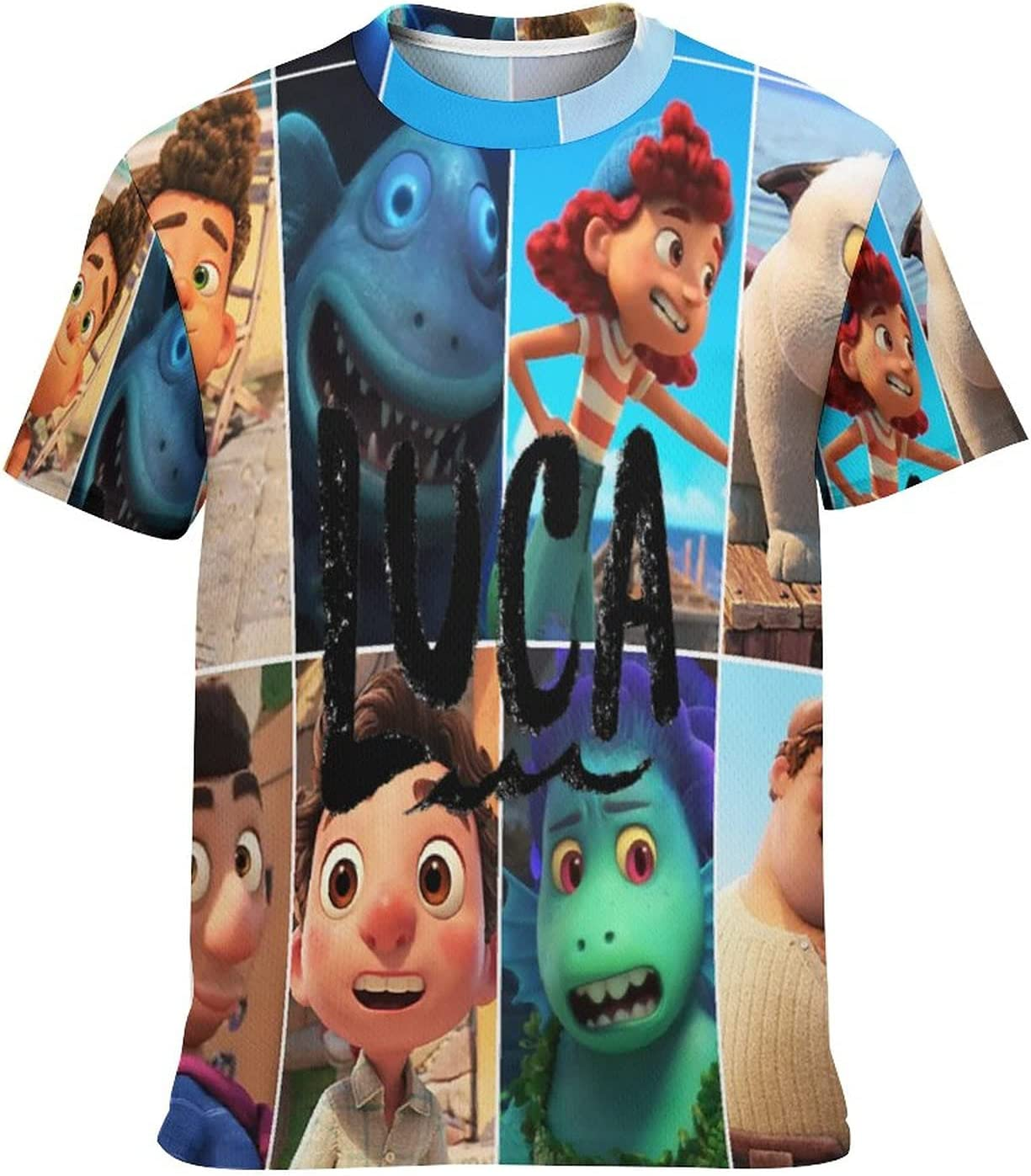Kid's Casual Graphic Round Neck Short Sleeve T-Shirt Cozy Trendy Tee Shirts Tops for Boys M