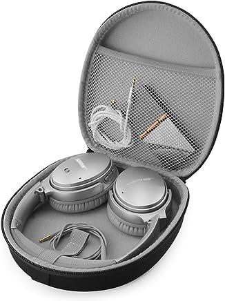 Linkidea - Funda para auriculares Bose QuietComfort QC35, QC25, QC15, AE2w, AE2i, AE2, SoundLink, SoundTrue around-ear Negro, gris