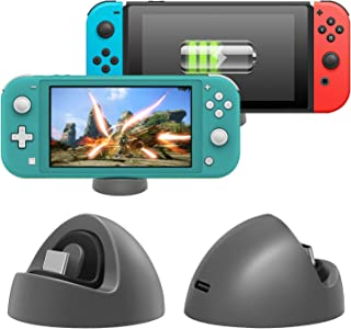 Charger for Nintendo Switch Lite and Nintendo Switch, Compact Charging Dock Stand Station with Type C Port Compatible with...
