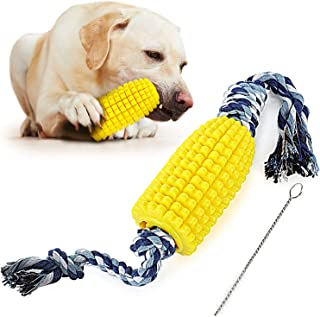 Sponsored Ad - PEWOD Corn Dog Toothbrush Chew Toy | Pet Teeth Cleaning Stick | Dog Dental Oral Care Toy for Medium Large Dogs