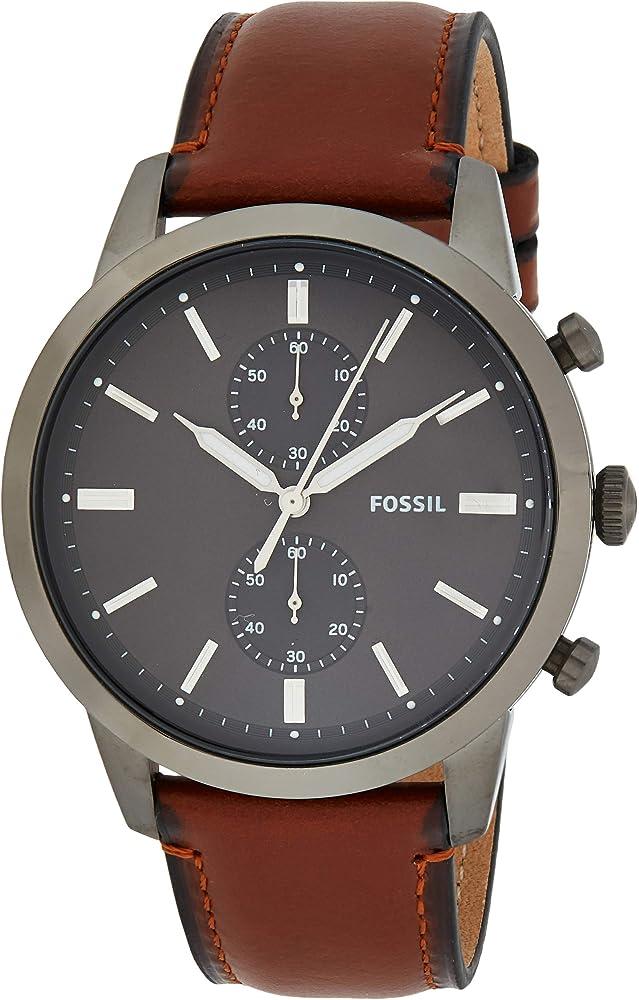 Fossil cronografo orologio uomo  con cinturino in pelle FS5522