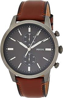 Fossil Orologio Cronografo Quarzo Uomo con Cinturino in Pelle FS5522