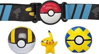 "Pokemon Clip 'N' Go Poké Ball Belt Set, Wave 5 Ultra Ball, Quick Ball, and 2"" Pikachu - Feat...."