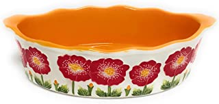 """Temp-tations 3 Qt Oval Baker, Pattern:""""Iced"""", Replacement, No Accessories (Poppy)"""