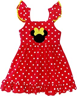 So Sydney Girls Toddler Pink or Red Minnie Mouse Kids Boutique Dress or Outfit