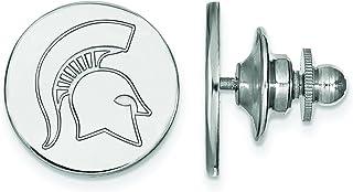 LogoArt Michigan State University Spartans Lapel Pin (Sterling Silver)