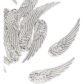 20 bronze angel wing charms jewelry making earrings crafts gifts