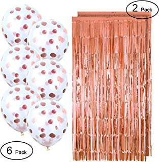 Bachelorette Party Decorations Metallic Photo Booth Tinsel Backdrop Door Curtains Confetti Balloons Party Supplies