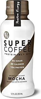Kitu by Sunniva Super Coffee Mocha Sugar-Free Formula, 10g Protein, Keto Approved, Lactose Free, Soy Free, Gluten Free, Pack of 12